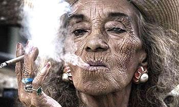 envejecer sol y tabaco