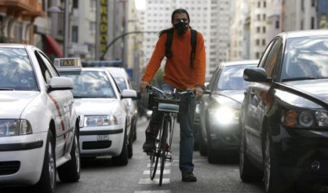 polucion y bici