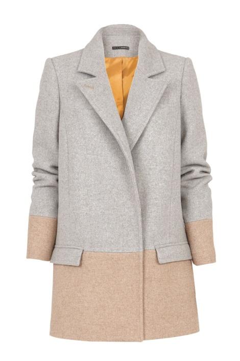 suite blanco abrigo gris
