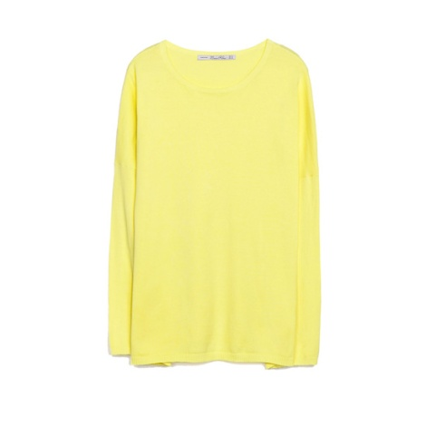 jersey amarillo zara