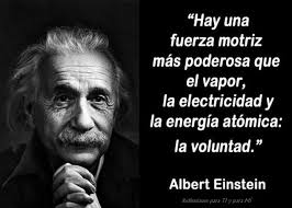 einstein voluntad