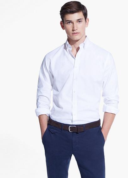 camisa blanco mango