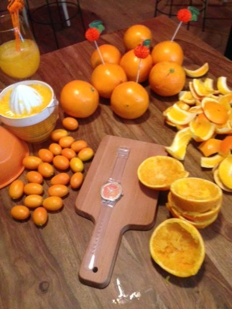 swatch naranja