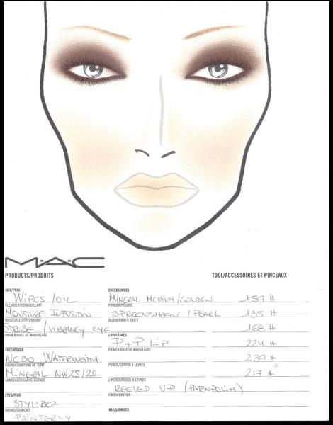 mac face chart 2